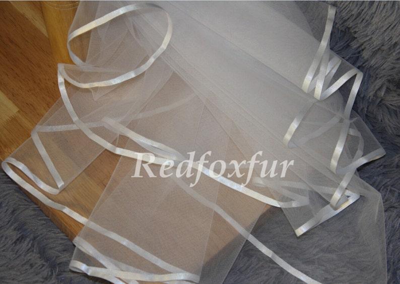 Wedding Veil,2Tier Veil,Bridal veil,Wedding gift,ivory veil,Short Veil,Elbow Veil,Blusher veil,Veil Comb,Tulle veil,white veil,Ribbon edge