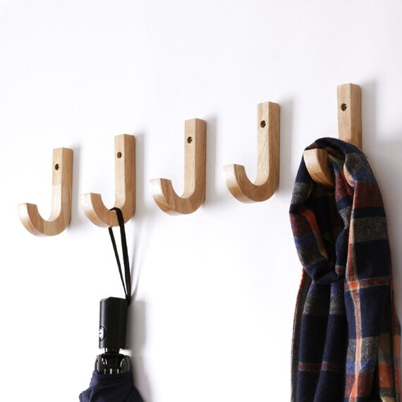 Modern Simple Solid Wood Decoration Wall Hooks