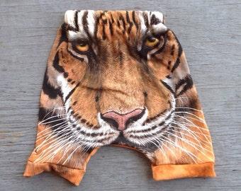 Repurposed Tiger Tee Harem Shorties