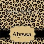 Personalized Clipboard - Leopard Print