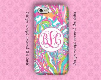 iPhone 7 Case, iPhone 7 Plus Case, iPhone 8 Case, iPhone 6 Plus Case, Monogram iPhone Case, iPhone X Case, Lilly Pulitzer Inspired
