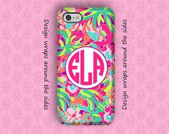 iPhone X Case, iPhone 7 Case, iPhone 7 Plus Case, iPhone 8 Case, iPhone 6 Plus Case, Monogram iPhone Case, Lilly Pulitzer Inspired