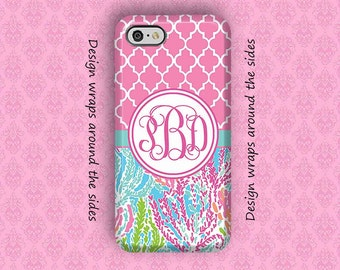 iPhone 8 Case, iPhone 7 Case, iPhone 7 Plus Case, iPhone X Case, iPhone 6 Plus Case, Monogram iPhone Case, 6S Plus, Lilly Pulitzer Inspired