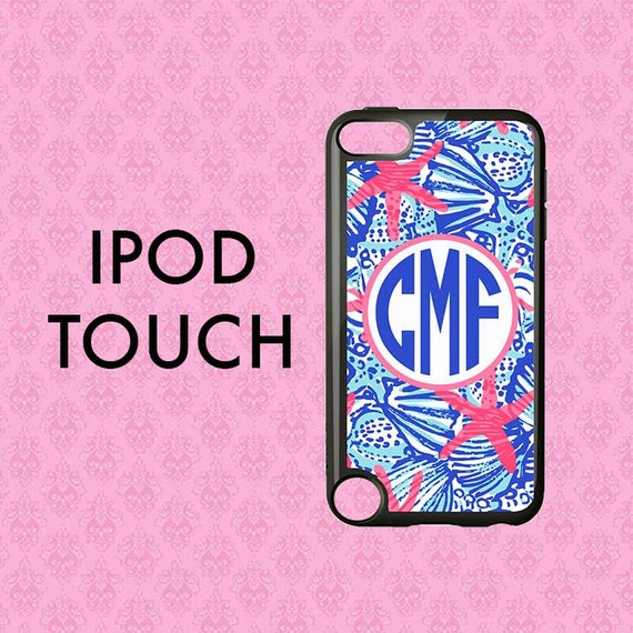 Monogram iPod 5 Etui, iPod Touch 5 Case, iPod Touch 6 Case, Personalized iPod Touch Case 6, Lilly Pulitzer inspiré cas