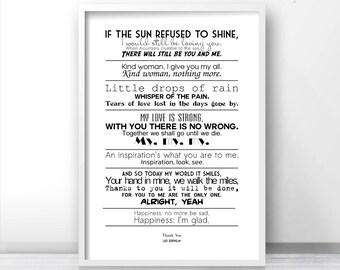 Led Zeppelin Lyrics Etsy