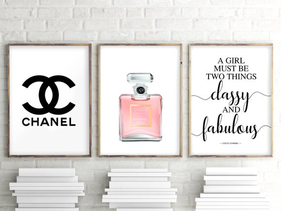3er Set Drucke Inspiriert Von Chanel Parfüm Zitat Dekor 3 Stück Wandkunst Mode Kunst Mademoiselle Parfüm Print Mode Poster 163