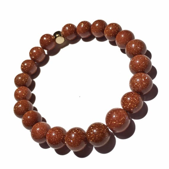 Brown Sandstone Beaded Bracelet 8mm, Choose Your Charm, Custom, Gold plated, yoga, meditation, womens, bridesmaid, wedding, energy, crystal,