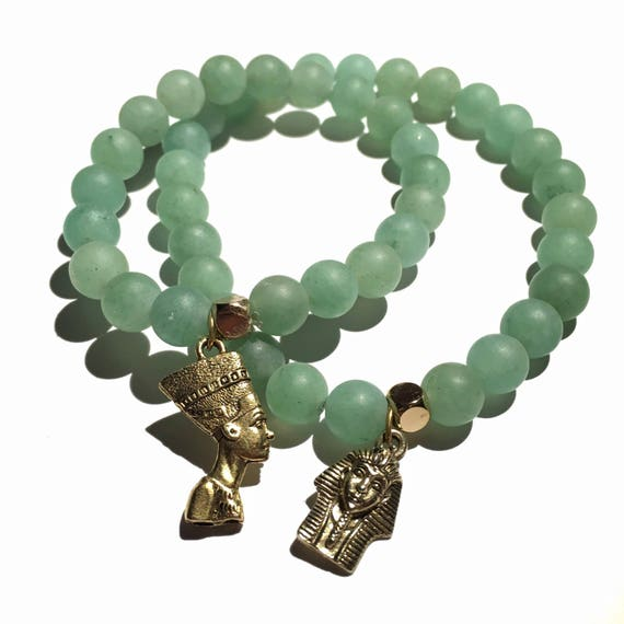 Heart Chakra Green Aventurine king and queen set.