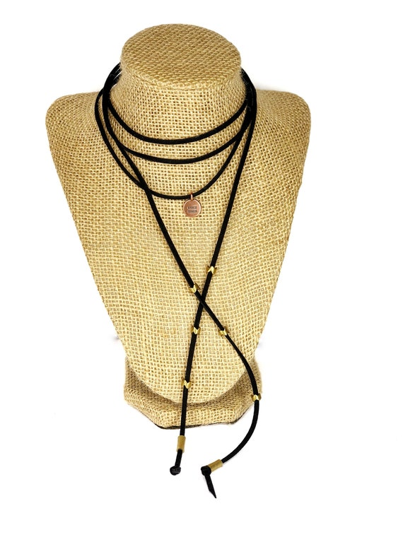 Hearts for Humanity: Equality Suede Choker or Wrist Wrap, black, metallic accents & Gold Plated charm, womens girls, charity, cause, vegan