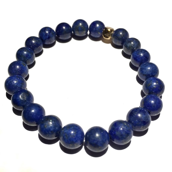 Lapis lazuli beaded Bracelet, Mens, Women, Unisex, Gemstones, Mala, Yoga, Meditation, bridal, groom, wedding, minimal, healing crystal, 8mm