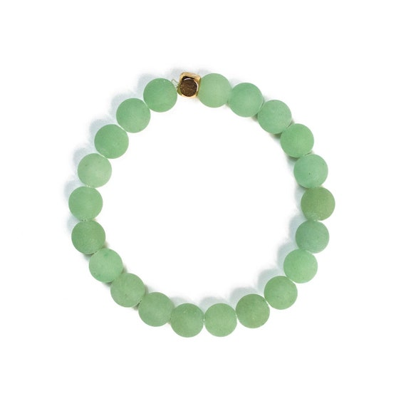Heart Chakra Green Aventurine 8mm Beaded Bracelet, unisex, for him, her, valentine, women, men, gemstone, good fortune, lucky, bridal, groom