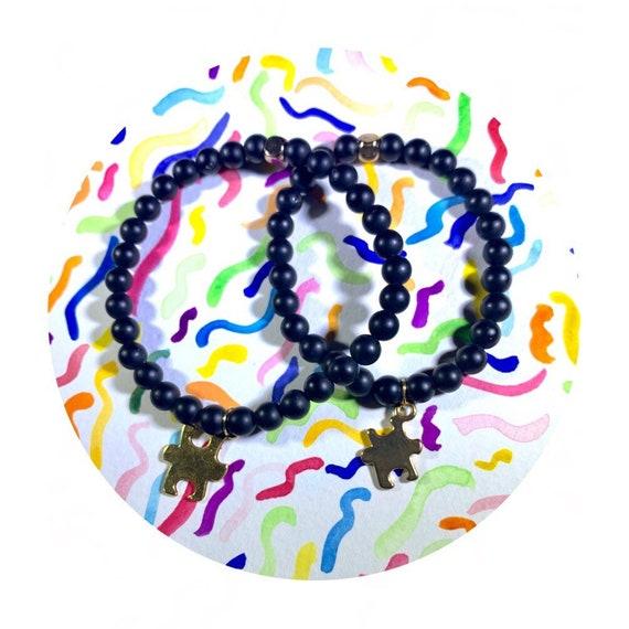Perfect Pair Strength stack: matte onyx beaded  Bracelet 6mm, gemstone, Meditation, Yoga, love, Gold plated, black, Valentine's Day, couple,