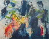 girls day  Original Drawing acrilyc on Canvas / art  xl 47,5 x 39,37 inch