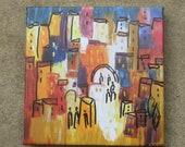 little italien city Drawing on FotoCanvas
