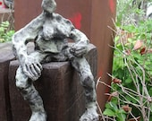 Sculpture, Bronze, abstract, girl, 1of7,  Modern Art, free shiping, also for outside, contemporary art,
