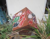 rustic cube Sculptur  Modern Art contemporary art,
