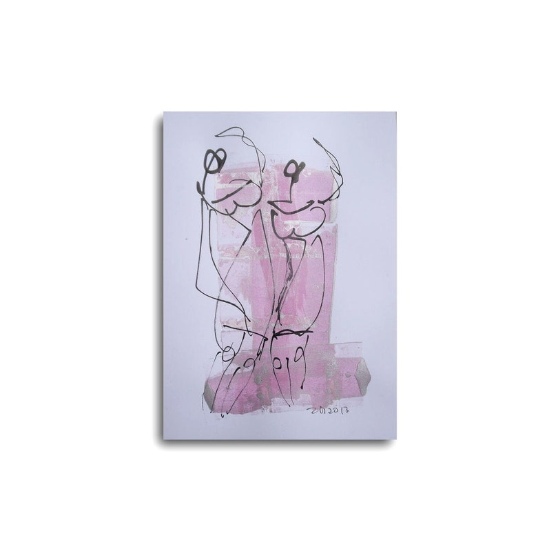 Dance Ball  Sylvester Drawing 83 x 117 inch pink silver image 0