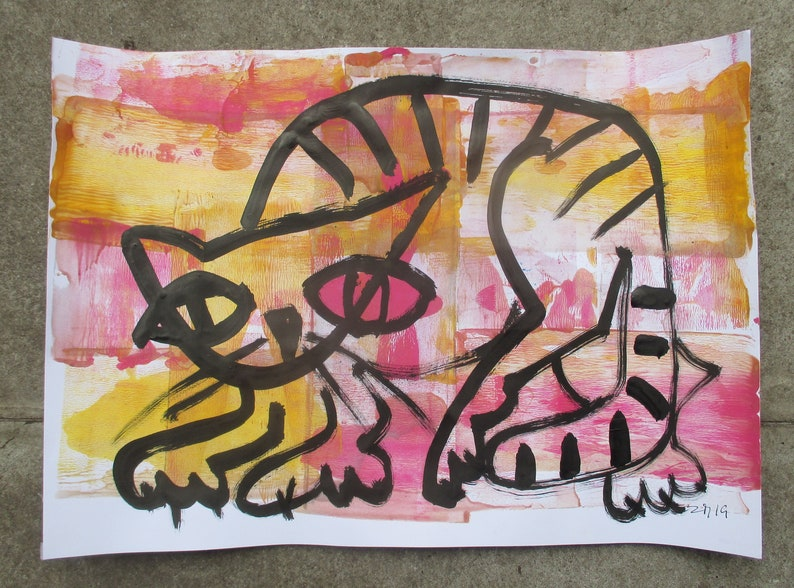 crazy Cats unique drawing animal pet sketch image 0