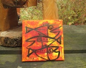 little fishes Original-Drawing on Canvas