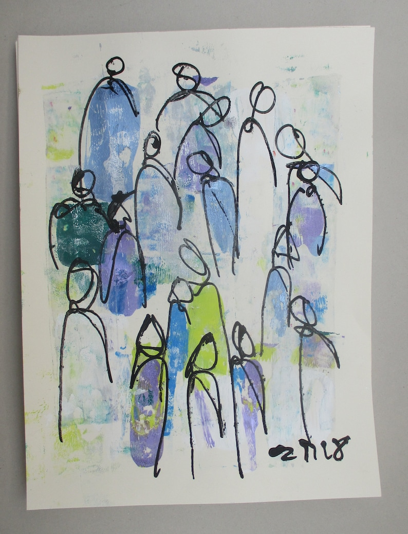 allcolored abstract people paper pair  expressive Original image 0