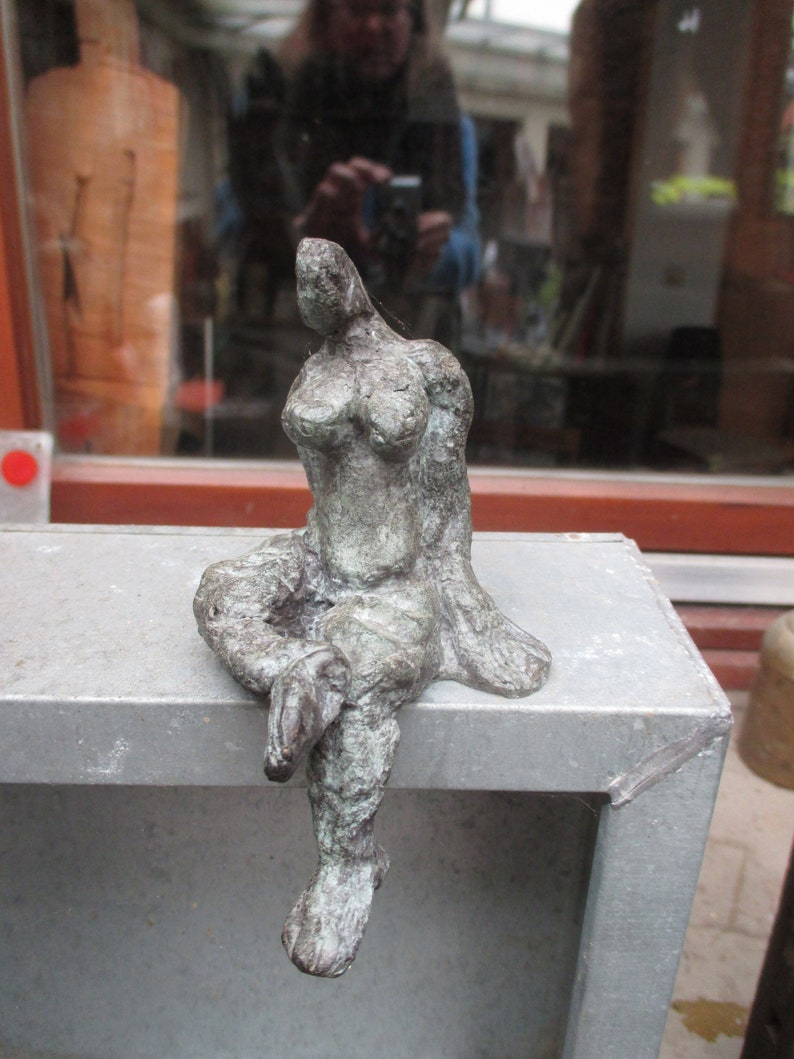 Scupture Bronze little girl 1from7 Modern Art free shiping  image 0