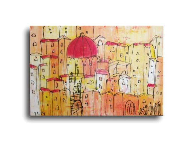 Tuscany Italy Painting Original Drawing Oil /  Canvas / art image 0