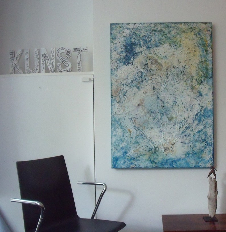 abstract modern painting Original Oil /  Canvas / Drawing xl image 0