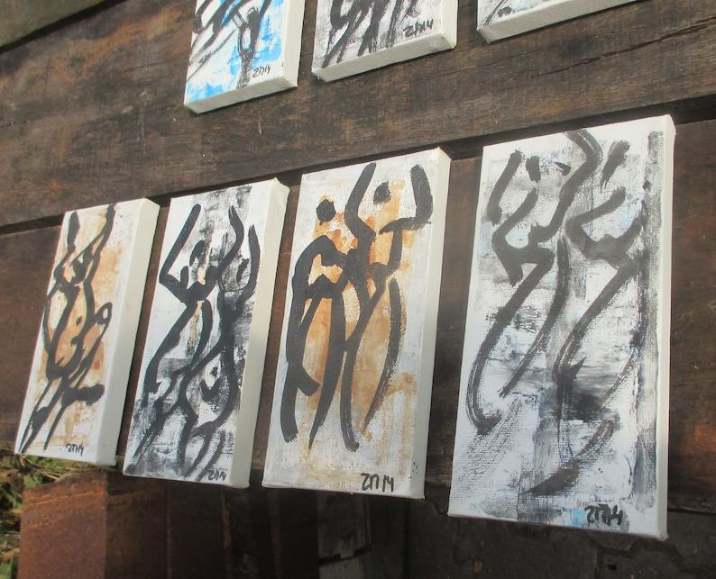 4 dancer girls Original Drawing on Canvas / Acryl  4 x  787 x image 0