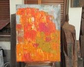 Tuscany, Italy, Original Drawing Oil / Canvas / art free shiping xl 27,56 x 39,37 inch