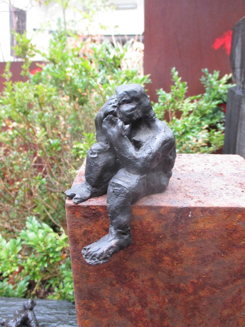 Sculpture Bronze little girl 1from7 Modern Art free shiping  image 0