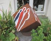 rustic cube Sculptur Modern Art contemporary art,