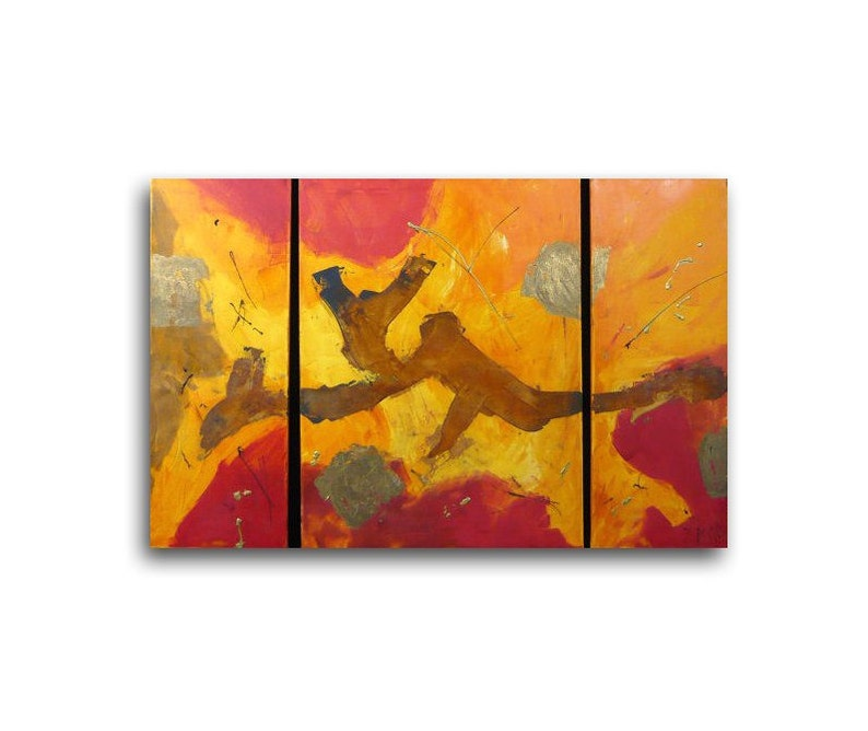abstrakt red with Oxidation  Original Oil /  Canvas 315x 472 image 0