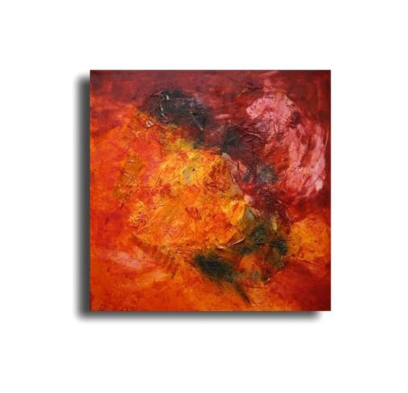 Fire Painting Collage / Oil / Canvas / xl Original 393 x image 0