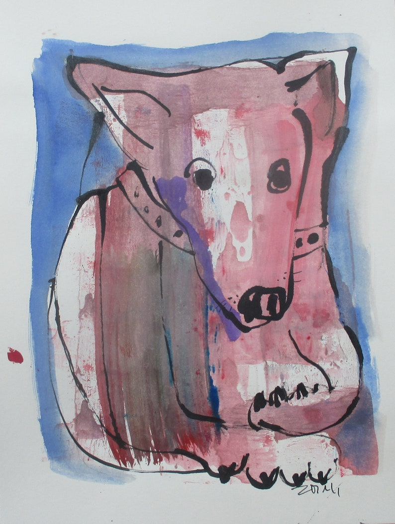 Dog  Drawing 1181 x 827 inch minimalism fether-drawing image 0