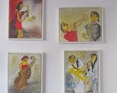 4 jazzscenes musicart Canvas / Drawing 4x 50x40 cm