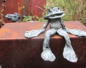 Frog Sculpture, Bronze, abstract, 1of7, Modern Art, free shiping, also for outside, contemporary art,