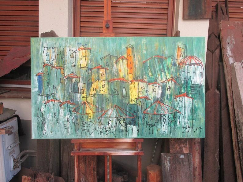 wild harbour city Oil / Canvas / xl Original 4724 x 315 image 0