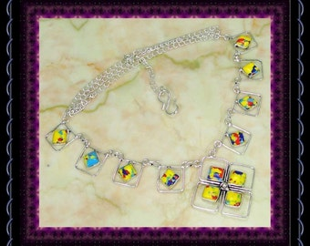 CLEARANCE..!! Mosaic Agate Necklace