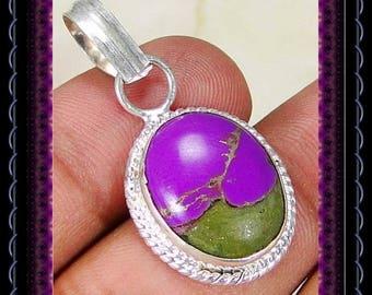 Copper Purple Turquoise Pendant