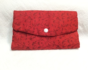 Handmade Trifold Wallet with Checkbook pocket