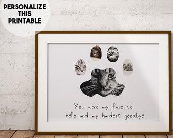 cat sympathy gift, pet loss photo gift, pet loss gifts, cat death gift, cat memorial, cat memorial gift, cat memorial plaque, cat memorial