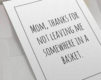 Funny Card For MomMom Birthday CardFunny Mothers DayMom From Daughter Mom Thank You CardMom SonGift