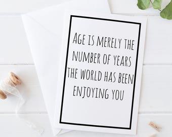 Sentimental Gift, Sentimental Birthday Gift, Funny Birthday Gift, Birthday Card For Mom, Birthday Card For Dad, Birthday Card Friend