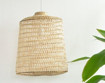 Free Shipping, Bamboo Pendant Light, Old Style Chinese Lantern, Natural Ceiling Lamp, Asian Woven Bamboo Hanging Lamp, Bohemian Decor / PL12