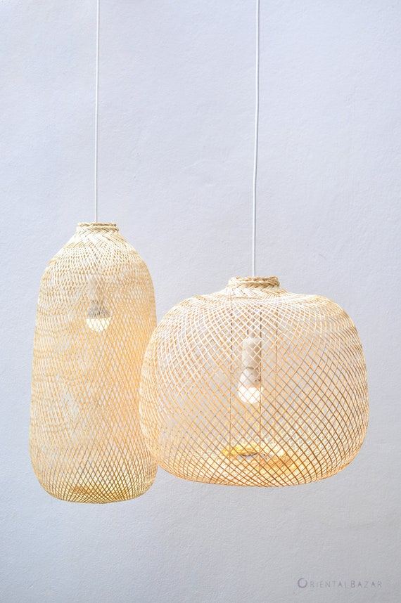 and Pendant LampBoho Chinese Ceiling Round Trap Woven Bamboo Bamboo Lantern LampAsian LightRepurposed PL05 Hanging Fish Oblong kXOZwliuTP