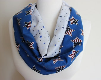 American Flag Colors July 4 Scarf, Patriotic Scarf, Stars Stripes Scarf, USA Red White Blue Scarf American Flag, USA Scarf America Scarf USA