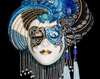 Venetian Mask Blu Madalena