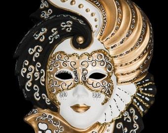 Venetian Mask Gold Clorinda