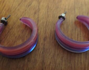 3e523841fe3bb Plastic hoop earring | Etsy