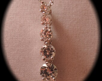 Sparkly Crystal Drop Necklace c1980